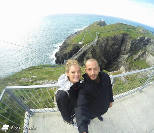 Vista di Mizen Head dall'alto, Irlanda