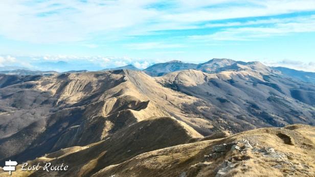 Panorama dalla vetta del Monte Rotondo, Appennino Tosco-Emiliano (Pistoia-Modena)