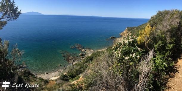 Vista dal sentiero sul mare
