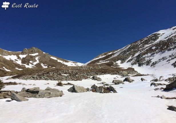 Libro Aperto, Mt Rotondo a sinistra e Mt Belvedere a destra