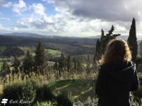 Panorama dietro la Rocca con Chiara
