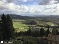 Panorama sul campo di golf