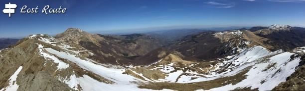 Panoramica monti dal Cimone a Corno alle Scale