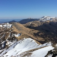 Vista da Mt Rotondo verso Mt Lancino, Cima Tauffi e Corno alle Scale