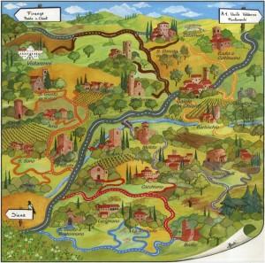 Cartina Strada dei Castelli