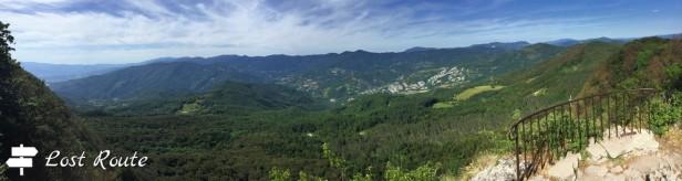 Panoramica dalla balconata sul Monte Penna, 1333mt