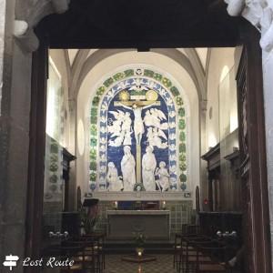 Pala dei Della Robbia dentro la Cappella delle Stimmate