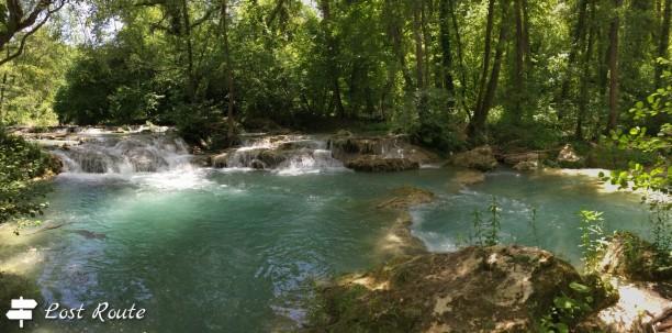 Cascate lungo il fiume Elsa