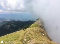 Il passaggio della nuvola, ostacolato dal Monte Sumbra