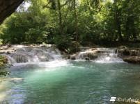 Le cascate lungo il fiume Elsa, particolare