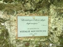 Targa in memoria di Vitalie Michitcin, fiume Elsa