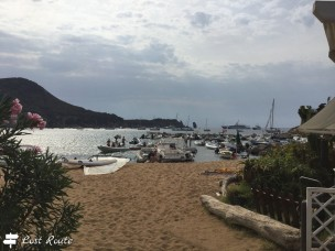 L'arrivo alla spiaggia di Giglio Campese