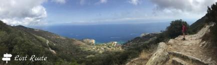 Panoramica dalla mulattiera al mare, Spiaggia delle Cannelle e Cala dell'Arenella