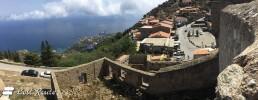 Panoramica sulla Cala dell'Arenella e Giglio Porto, dal castello