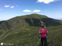 Chiara davanti alla Nuda, al Passo del Vallone, 1700m