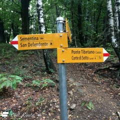 Indicazioni Ponte Tibetano Carasc, Monte Carasso, Ticino, Grand Tour of Switzerland