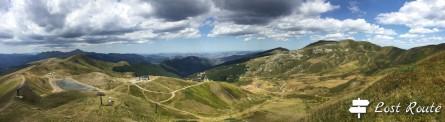 Panoramica del Corno alle Scale, Lago Scaffaiolo, Pascoli del Corno, con il Cimone sullo sfondo