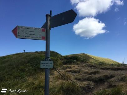 Passo Vallone, 1700m, tra La Nuda e Punta Sofia