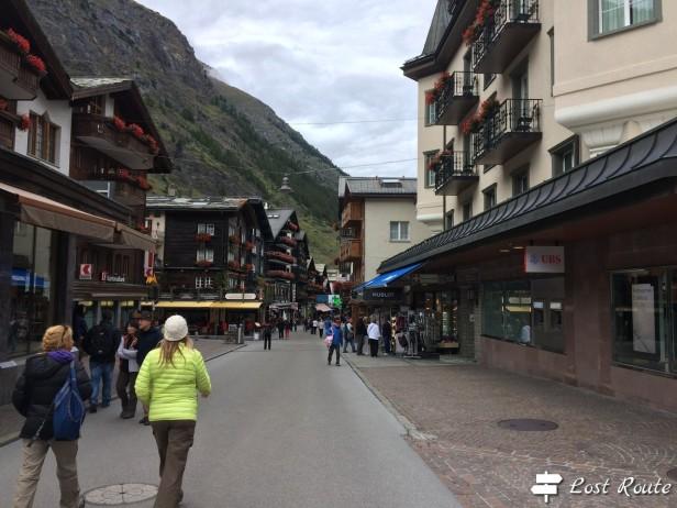 Zermatt, strade del centro
