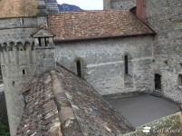 Cortile più piccolo all'interno del Castello di Chillon, Veytaux, Grand Tour of Switzerland