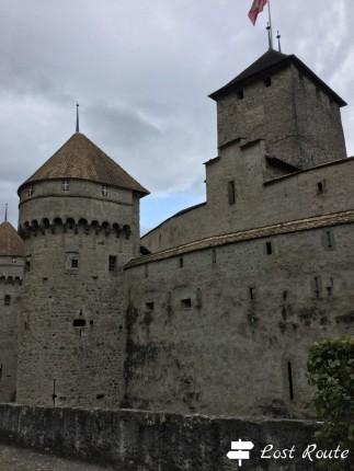 Il Castello di Chillon da fuori, Veytaux, Grand Tour of Switzerland