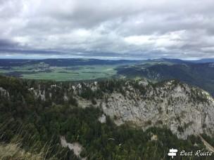Panorama di fronte al Creux du Van, Vaud, Grand Tour of Switzerland
