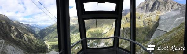 Panoramica dalla cabinovia per la Diga Dixence, Valais, Grand Tour of Switzerland