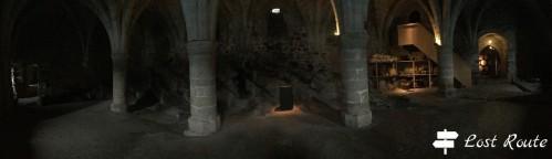 Panoramica delle cantine nel Castello di Chillon, Veytaux, Grand Tour of Switzerland