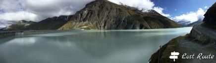 Panoramica Diga Dixence, dal coronamento alla passeggiata intorno al Lago di Dix, Valais, Grand Tour of Switzerland