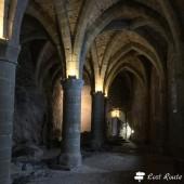 Particolari delle prigioni nel Castello di Chillon, Veytaux, Grand Tour of Switzerland