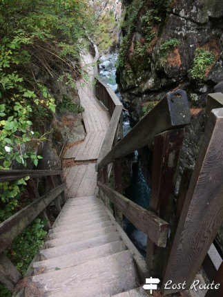 Passerella lungo la Gorner Gorge, Zermatt, Valais, Grand Tour of Switzerland #4