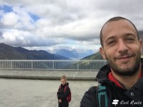 Selfie sul coronamento della Diga Dixence, Valais, Grand Tour of Switzerland