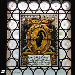 Stemma sulla vetrata al Castello di Chillon, Veytaux, Vaud, Grand Tour of Switzerland