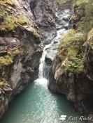 Una cascata lungo il Gornera, Gorner Gorge, Zermatt, Valais, Grand Tour of Switzerland