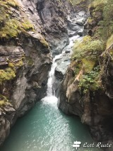 Una cascata lungo il Gornera, Gorner Gorge, Zermatt, Valais, Grand Tour of Switzerland
