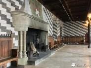 Una sala all'interno del Castello di Chillon, Veytaux, Vaud, Grand Tour of Switzerland