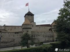Vista dalla strada del Castello di Chillon, Veytaux, Grand Tour of Switzerland