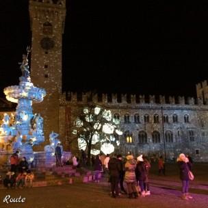 Giochi di luci a Trento, durante il periodo natalizio