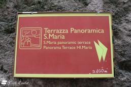 Indicazioni per la Terrazza panoramica S.Maria, Corniglia, Cinque Terre, Liguria
