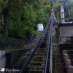 La salita all'Harder Kulm, Interlaken, Berna, Grand Tour of Switzerland