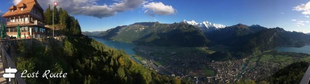 Panoramica dalla vetta dell'Harder Kulm, Interlaken, Berna, Grand Tour of Switzerland