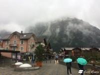 Piazza alla fine del corso principale, Grindelwald, Berna, Grand Tour of Switzerland