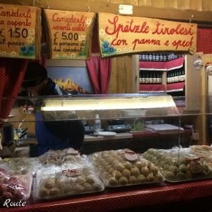 Specialità gastronomiche al mercatino di Natale a Trento