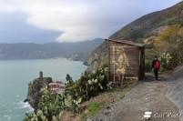Casotto del Parco Nazionale delle Cinque Terre, sopra Vernazza, Cinque Terre, Liguria