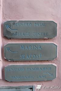 Indicazioni in paese, Riomaggiore, Cinque Terre, Liguria