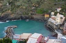 La Marina di Vernazza vista dal Castello, Cinque Terre, Liguria