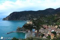 La vista di Monterosso dalla strada, Cinque Terre, Liguria