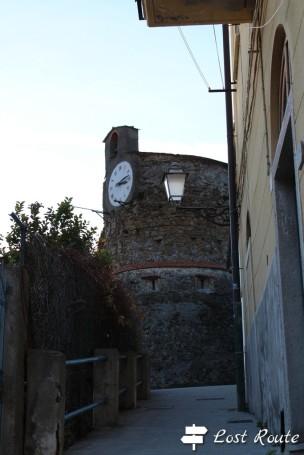 Orologio del Castello di Riomaggiore, Cinque Terre, Liguria