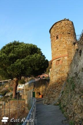 Una Torre del Castello di Riomaggiore, Cinque Terre, Liguria