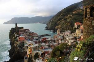 Vernazza vista dal Ristorante La Torre, Cinque Terre, Liguria